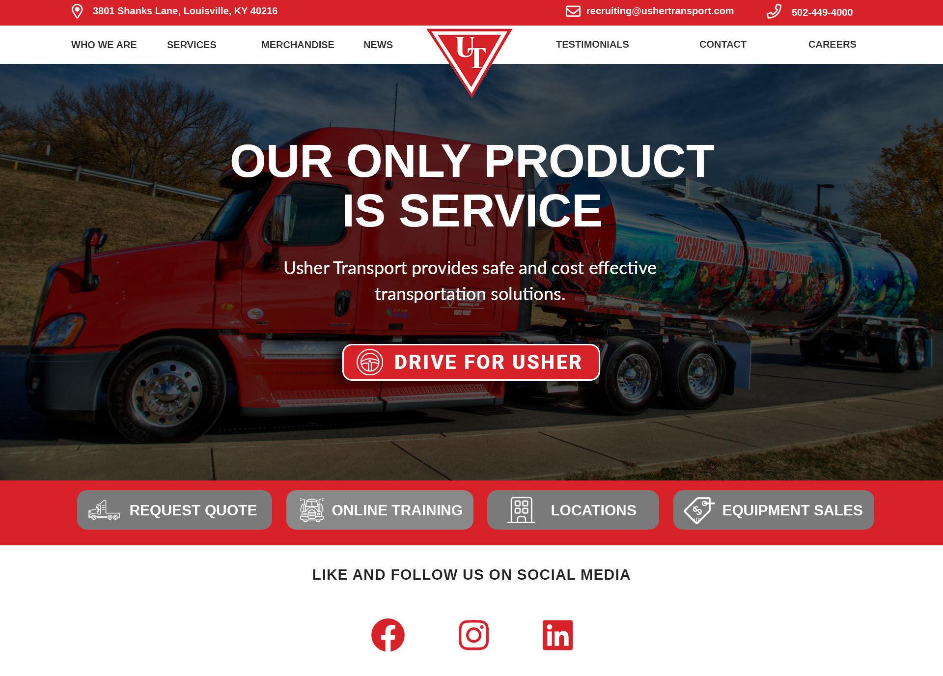 Usher Transport portfolio image